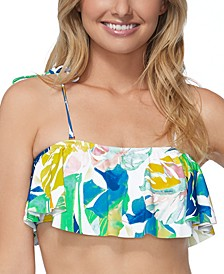 Juniors' Palm Springs Flounce Bikini Top