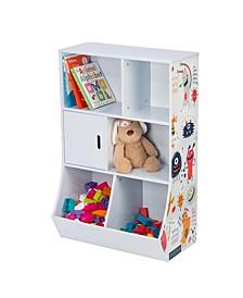 6-Cube Kids Storage Cubby, Light Blue