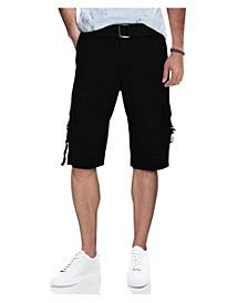 Men's Belted D-Ring Cargo Shorts