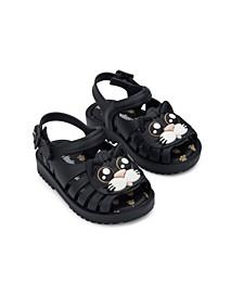 Little Girls Francxs Cat Flat Sandal
