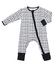 Baby Boys and Girls Bamboo Xoxo 2 Way Zippy Coverall