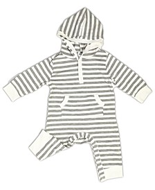 Baby Boys and Girls Organic Bamboo Short Sleeve Hoodie Coverall