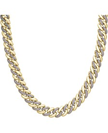 "Men's Diamond Link 20"" Chain Necklace (1/2 ct. t.w.) in 14k Gold-Plated Sterling Silver or Sterling Silver."