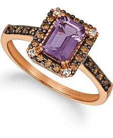Grape Amethyst (3/4 ct. t.w.) & Diamond (1/4 ct. t.w.) in 14k Rose Gold