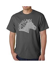 Men's Word Art - Horse Mane T-Shirt