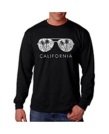Men's Word Art - California Shades Long Sleeve T-Shirt
