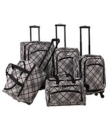 Stripes 5 Piece Spinner Luggage Set