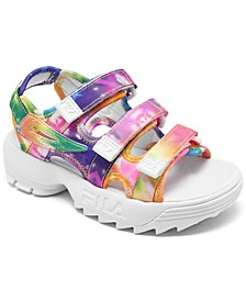 Little Girls Disruptor Tie-Dye Athletic Sandals from Finish Line