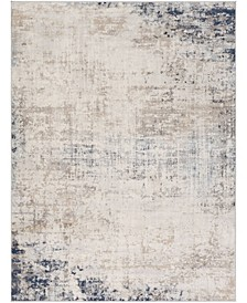 "Roma ROM-2315 Silver 7'10"" x 10' Area Rug"