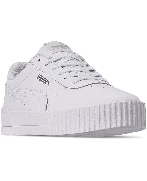 Women's Carina Leather Casual Sneakers from Finish Line