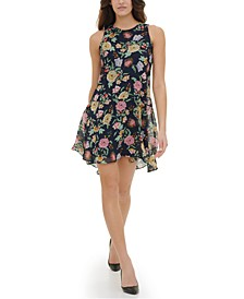 Fruity Floral Chiffon Dress