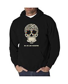 Men's Dia De Los Muertos Word Art Hooded Sweatshirt