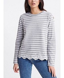 Summer Schiffli Long-Sleeve T-Shirt