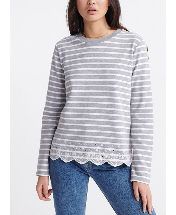 Superdry Summer Schiffli Long-Sleeve T-Shirt