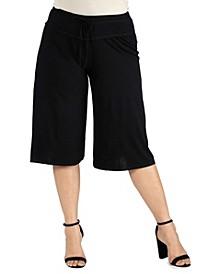 Women's Plus Size Drawstring Gaucho Pants