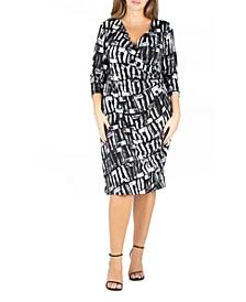 Women's Plus Size Faux Wrap Dress