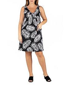 24seven Comfort Apparel Women's Plus Size Sleeveless Mini Dress