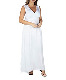 Women's Plus Size Empire Waist Maxi Dress