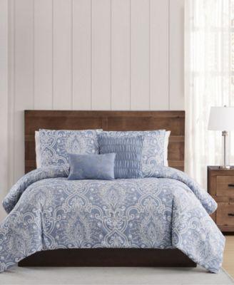 Justine Pleated Full/Queen Comforter Set