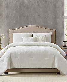 Diamond Clipped Jacquard Full/Queen Comforter Set