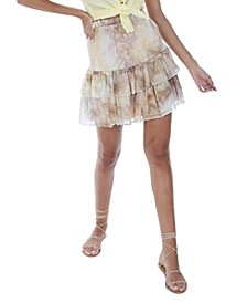 Women's Tie Dye Smocked Mini Skirt
