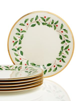 Holiday Dinner Plates, Set of 6