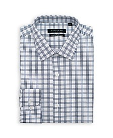 Men's Slim Fit Non-Iron, Wrinkle Resistant Performance Stretch Dress Shirt - Checkered