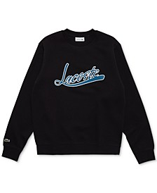Men's Crewneck Sweatshirt with Lacoste Script Logo