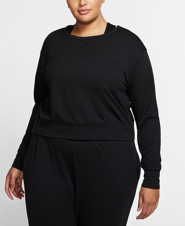 Nike Plus Size Dri-FIT Cutout Wrap-Back Yoga Training Top