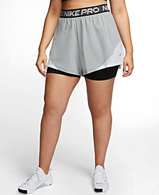 Pro Plus Size Dri-FIT Flex 2-In-1 Shorts