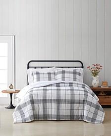 Cottage Plaid King 3 Piece Comforter Set