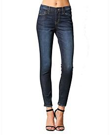 Mid Rise Regular Hem Skinny Ankle Jeans
