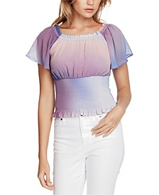 Eclipse Skies Smocked Tie-Dye Top