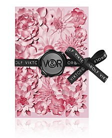 Receive a Complimentary Notebook with any large spray purchase from the Viktor & Rolf Flowerbomb fragrance collection