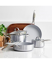 Venice Pro Stainless Steel Ceramic 7-Pc. Cookware Set