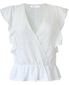 BCBGeneration Surplice Ruffle Knit Top