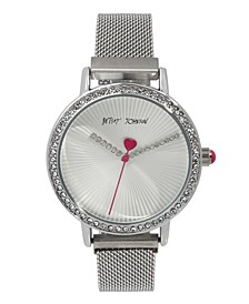 Women's Glitter Hands Stainless Steel Bracelet Watch 36mm