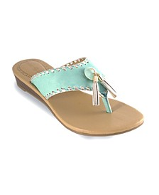Margo Wedge Thong Sandal