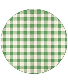"Apex APE07 Green 7'10"" Round Rug"