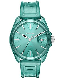 Unisex MS9 Green Transparent Polyurethane Strap Watch 44mm