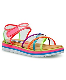 Little Girls Strappy Wedge Sandal