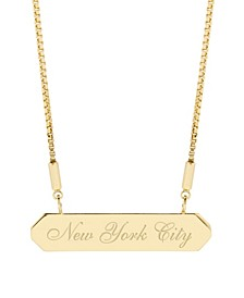 Hannah City Bar Necklace