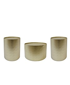 Braeburn Modern Round 3 Piece Accent and Coffee Table Set