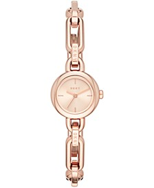 Women's Uptown Rose Gold-Tone Stainless Steel Chain Bracelet Watch 22mm