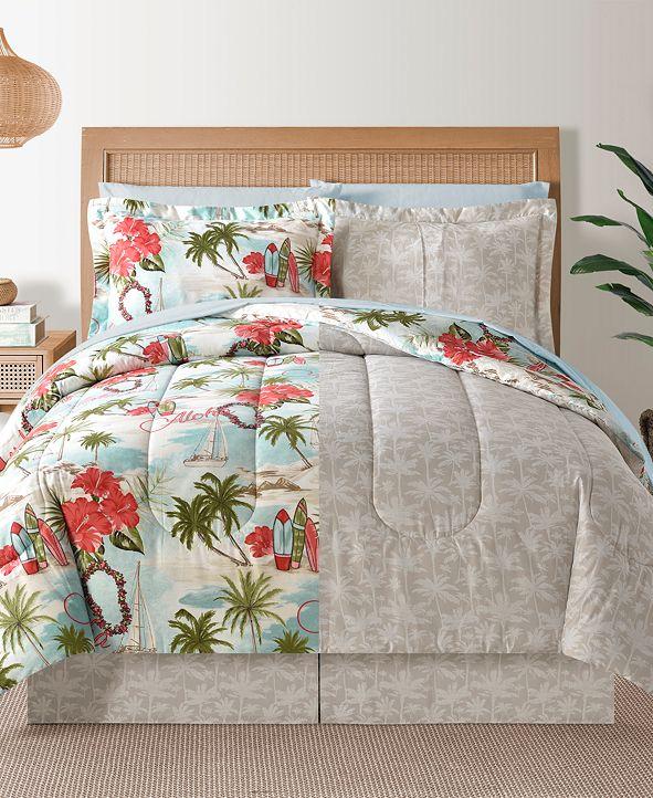 Sunham Fairfield Square Hawaii Multi 6-Pc Twin Comforter Set