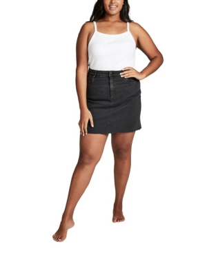 Cotton On Trendy Plus Size Denim Skirt
