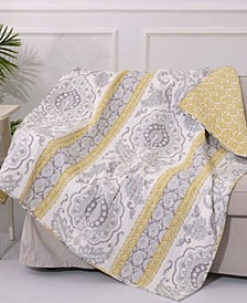 St. Claire Damask Reversible Quilted Throw