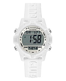 White Silicone Digital Watch 40mm