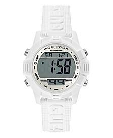 White Silicone Digital Watch 40mm