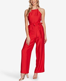 Scalloped Wide-Leg Jumpsuit